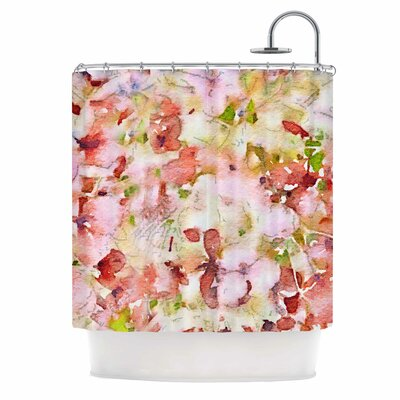 Floral Fantasy Shower Curtain Color: Blue