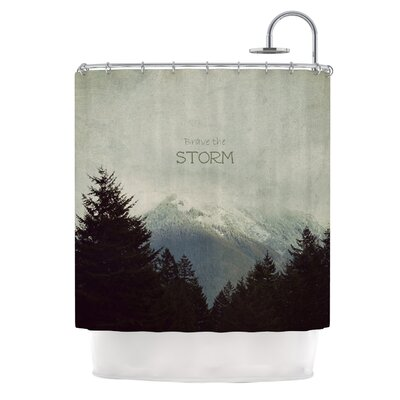 Brave The Storm Shower Curtain