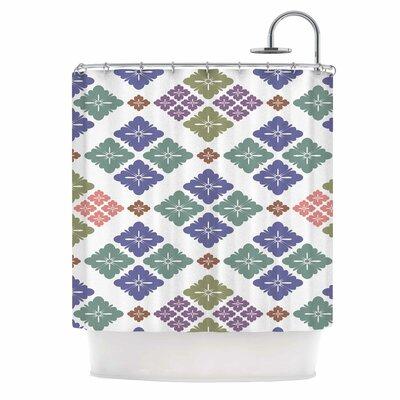 Happy Lozenge Shower Curtain