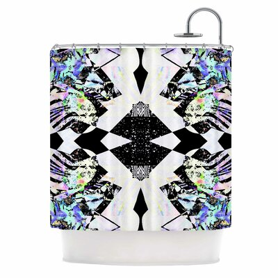 Abstract Zebra Shower Curtain