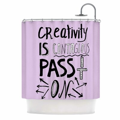 Creativity is Contagious Shower Curtain