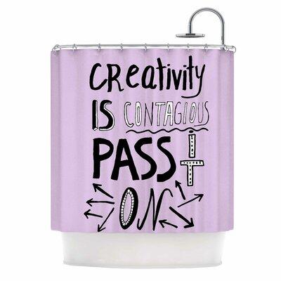 Creativity is Contagious Shower Curtain
