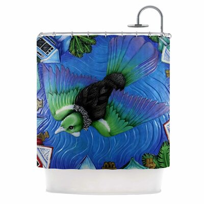 Tui Flying in Pacific Skies Shower Curtain