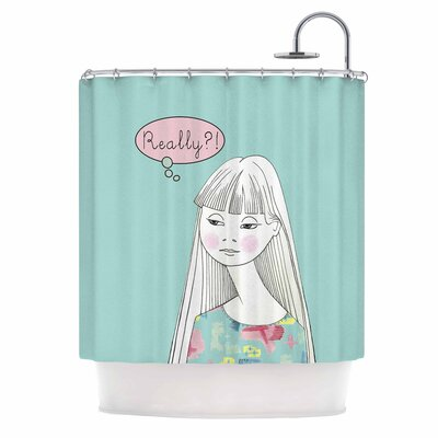 Really Retro Girl Shower Curtain