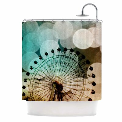 Ferris Wheel Silhouette Shower Curtain