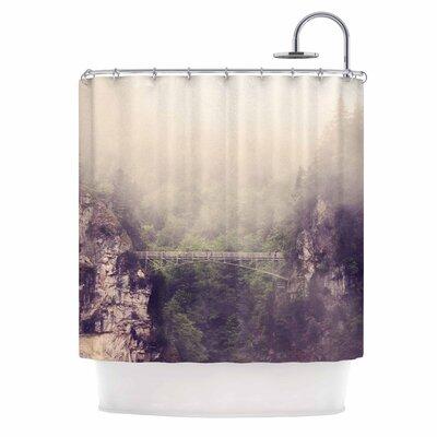 Foggy Mountain Landscape Shower Curtain