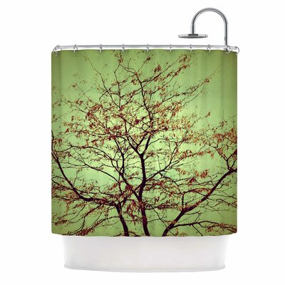 Modern Fall Tree Shower Curtain