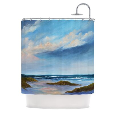Wet Sand Shower Curtain