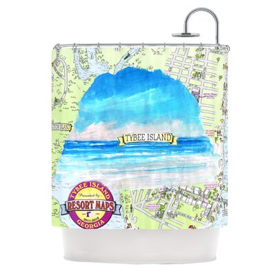 Tybee Island Shower Curtain
