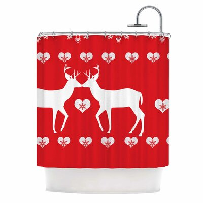 Christmas Deer II Shower Curtain
