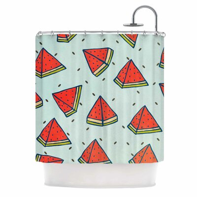Watermelon Pattern Summer Love Shower Curtain
