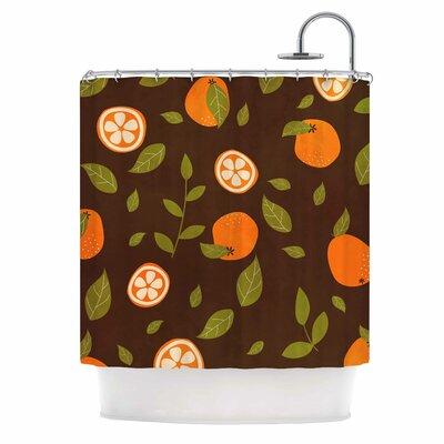 Orange Pattern Shower Curtain