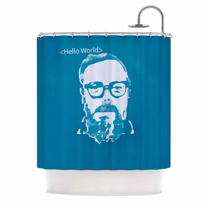 Hello World Shower Curtain