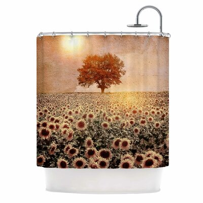 Lone Tree & Sunflowers Field Shower Curtain