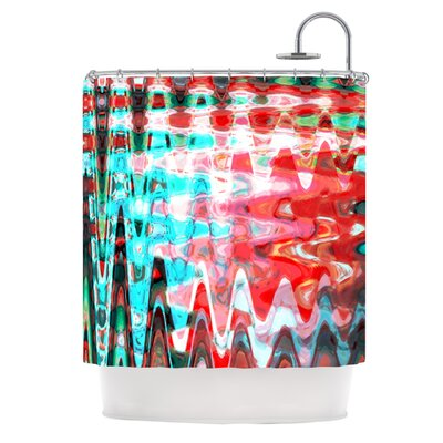 Aqua Wave Shower Curtain
