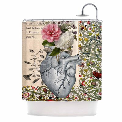 Her Heart is a Garden Shower Curtain