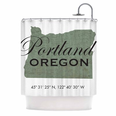 Portland Coordinates Shower Curtain