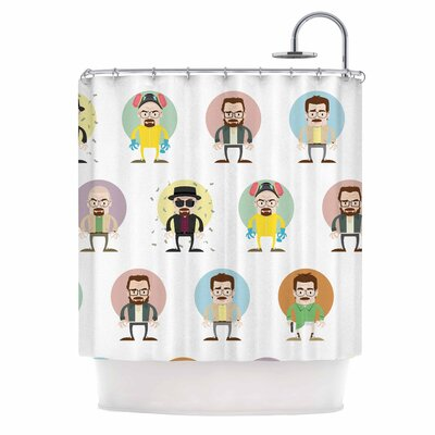 The Stages of Walter White Shower Curtain