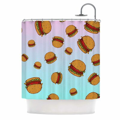 Cheeseburger Paradise Shower Curtain