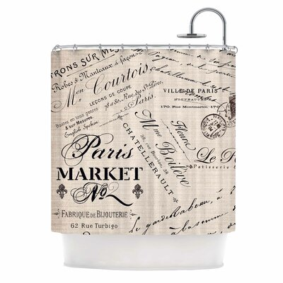 French Script Shower Curtain