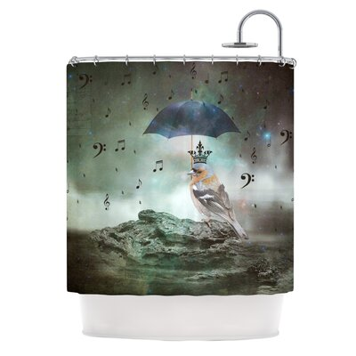 Umbrella Bird Shower Curtain