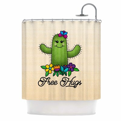 Free Hugs Cactus Shower Curtain