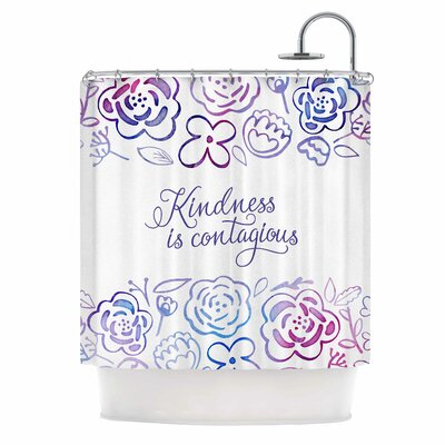 Kindness is Contagious Shower Curtain