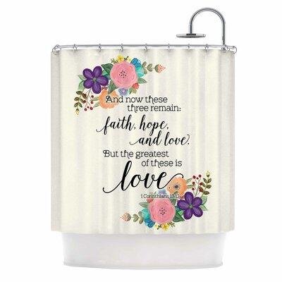Faith, Hope, and Love Shower Curtain