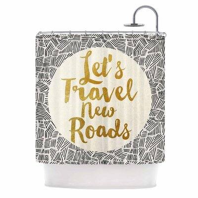 Lets Travel New Roads Shower Curtain