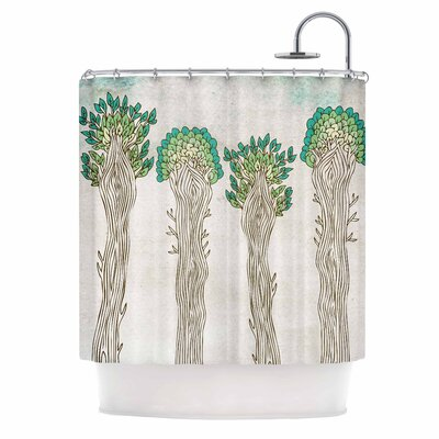 Amazon Trees Shower Curtain