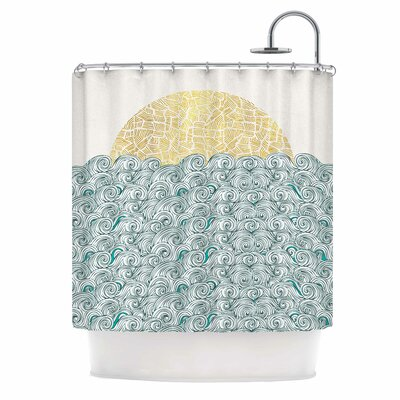 Sunny Tribal Seas II Shower Curtain