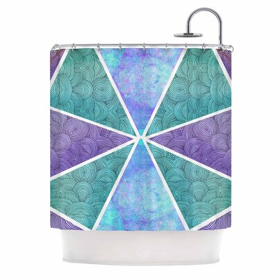 Reflective Pyramids Shower Curtain