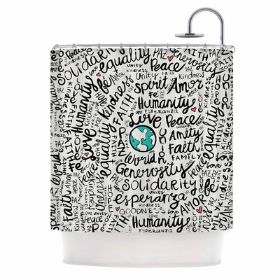 Positive World Shower Curtain