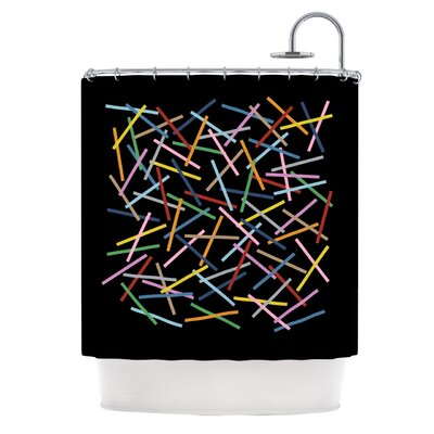 Sprinkles on Black Shower Curtain