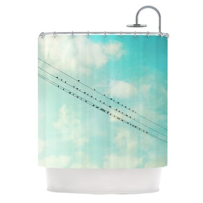 Birds on Wires Shower Curtain