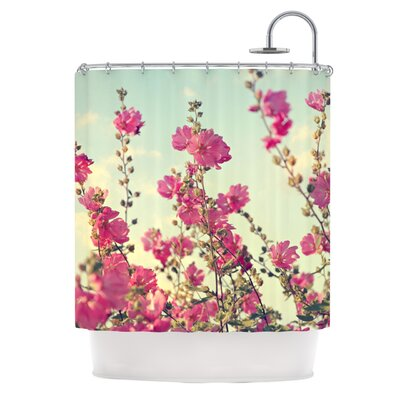 Pink Lavatera Shower Curtain