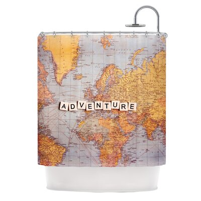 Adventure Map Shower Curtain