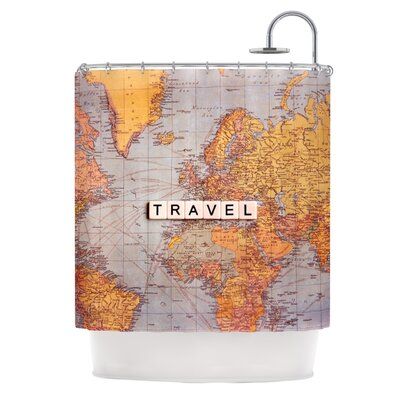 Travel Map Shower Curtain