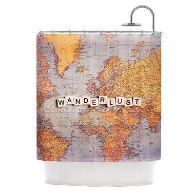 Wanderlust Map Shower Curtain