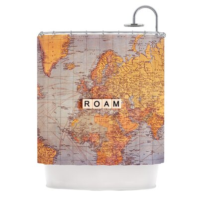 Roam Map Shower Curtain