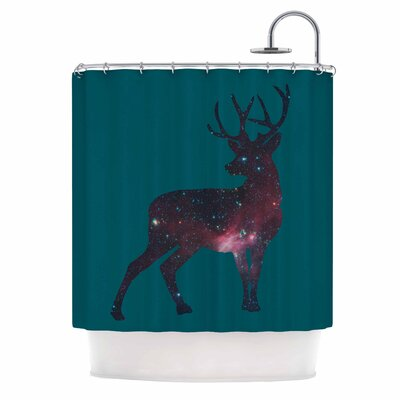 Deer in The Starlight Shower Curtain