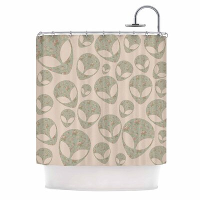 Abducting The Flowers Shower Curtain