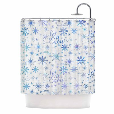 Let It Snow Winter Pattern Shower Curtain