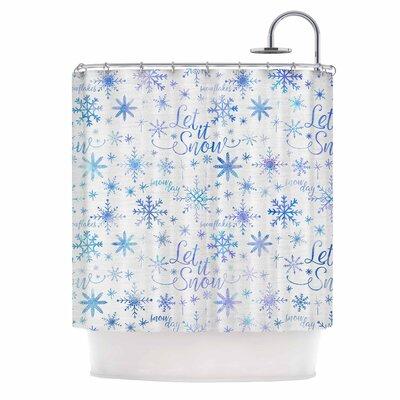Let It Snow Winter Pattern Shower Curtain
