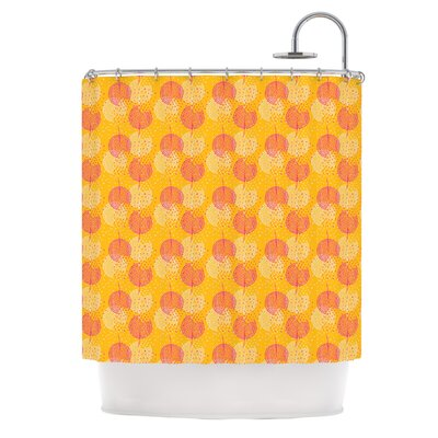 Wild Dandelions Shower Curtain Color: Gold