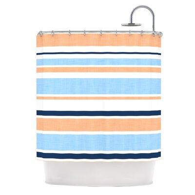 Shower Curtain Color: Pink / Blue / Orange