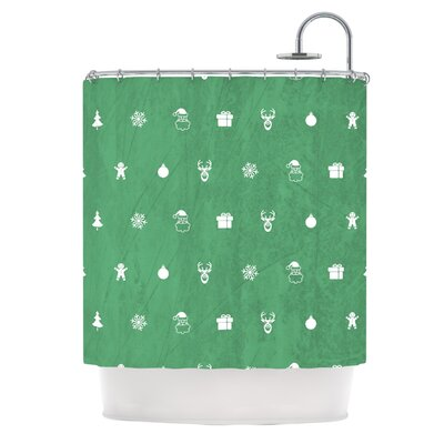 Cheery Pattern�Shower Curtain Color: Red