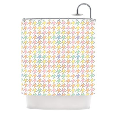 Houndstooth Shower Curtain Color: Rainbow