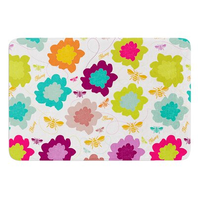 Bee Highway by Nicole Ketchum Bath Mat