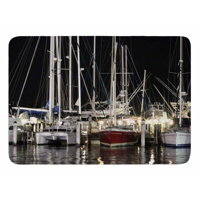 Dinner Key Marina by Philip Brown Bath Mat